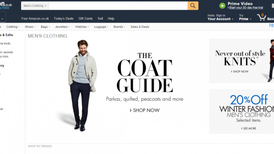 Amazon UK Mens Fashion Store