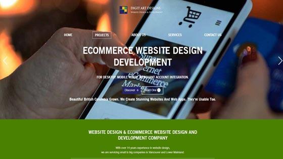 eCommerce Web Design Vancouver Canada - Retail Site