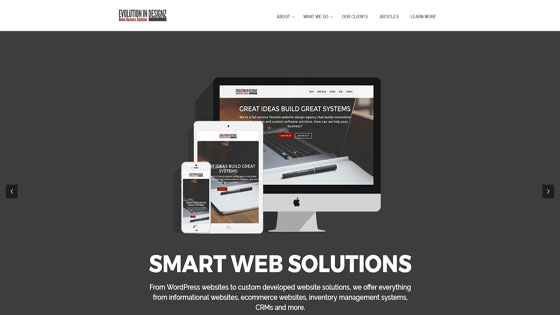 Evolution in DesignZ ecommerce web design Toronto