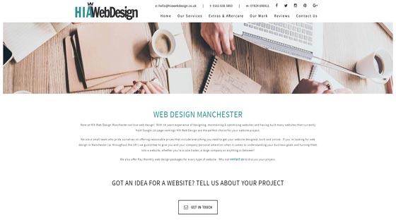 HIA web design manchester