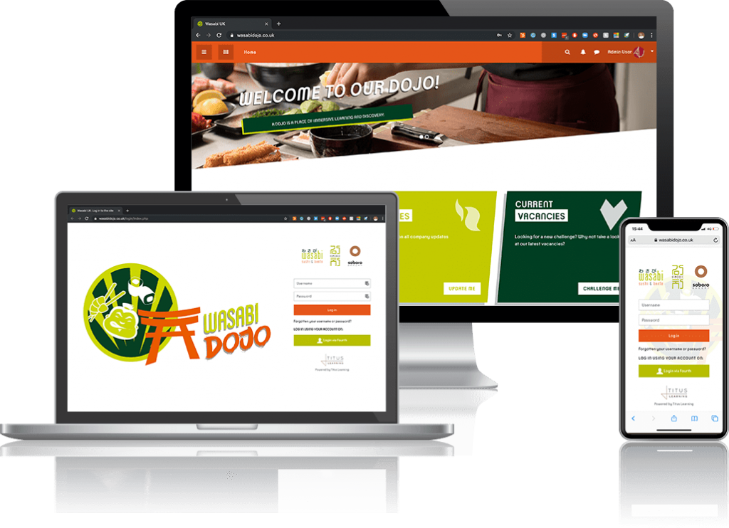 LMS for food retail - Wasabi example