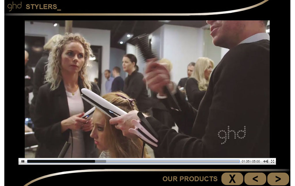e-Learning for global hair-styling retailer, ghd